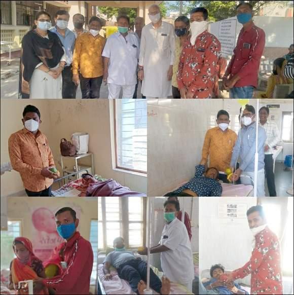 વિરમગામના ચંદુજી દરબારે ગાંધી હોસ્પિટલમાં ફ્રુટ વિતરણ કરીને જન્મ દિવસ ઉજવ્યો