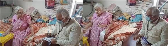 રાજપીપળાના બીમાર વૃદ્ધ મહિલા ગ્રાહકને સ્ટેટ બેંકના મેનેજરે ઘર સુધી સેવા આપી માનવતાના દર્શન કરાવ્યા
