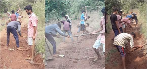 દેડીયાપાડાના શીશા જાગઠા ફળિયામાં તંત્રની લાલીયાવાડીના કારણે ગામ લોકોએ જાતે બનાવ્યો રસ્તો