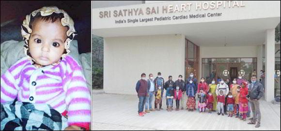 ઇન્દોરની ૯ માસની બાળકી ભાગ્યશ્રીની અમદાવાદ સત્ય સાંઇ હાર્ટ હોસ્પિટલમાં સફળ સર્જરી  : મળ્યું નવું જીવન