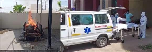 રાજપીપળા કોવિડ હોસ્પિટલમાં મૃત્યુ પામેલા 12 દર્દીઓની સમસ્ત વૈષ્ણવ વણિક સમાજ દ્વારા અંતિમ વિધિ કરાઈ