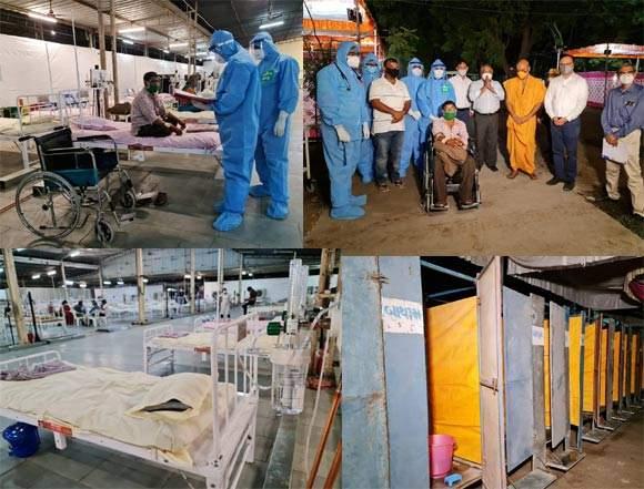 સેવામાં સદાય અગ્રેસર BAPS સંસ્થાનું સ્તુત્ય પગલું: અટલાદરામાં BAPSના યજનાપુરુષ સભાગ્રહ ખાતે 500 બેડની COVID હોસ્પિટલની કામગીરી શરૂ
