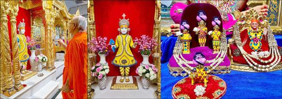 શ્રી સ્વામિનારાયણ મંદિર, મણિનગર તથા કડીમાં અક્ષય તૃતીયા પર્વે શ્રી સ્વામિનારાયણ ભગવાનને કરાયો ચંદનનો કલાત્મક શણગાર