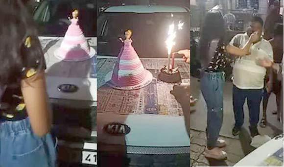 કોરોના ગાઈડલાઈનની ઐસી કી તૈસી :ભાજપના નેતાએ જાહેરમાં દીકરીનો જન્મદિવસ ઉજવ્યો : વિડિઓ વાયરલ