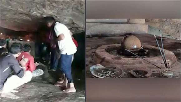 મહીસાગરના કડાણા ડેમમાં 850 વર્ષ જુની નદીનાથ મહાદેવની ગુફા ખુલી અને દર્શન શરૂ થયાઃ જળસપાટી નીચી જતા ભાવિકોને પૂજન-દર્શનનો લાભ