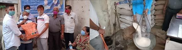 રાજપીપળામાં પ્રધાનમંત્રી ગરીબ કલ્યાણ અન્ન યોજના હેઠળ નિ:શુલ્ક અનાજ વિતરણથી લાભાર્થીઓમાં ખુશી