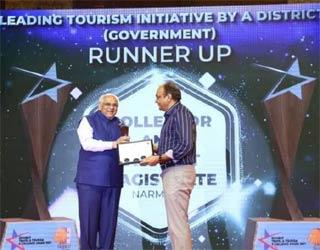 ગુજરાતના મુખ્યમંત્રી ભુપેન્દ્રભાઇ પટેલના હસ્તે લિડિંગ ટુરીઝમ કેટેગરીમાં નર્મદા જિલ્લા પ્રસાશનને દ્વિતીય એવોર્ડ એનાયત કરાયો